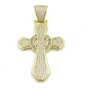 Other - Gold over 925 Sterling Silver Pendant Charm Cross